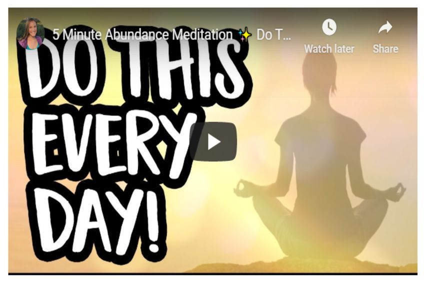 5 Minute Abundance Meditation – Do This Daily To Attract The Abundance You Deserve