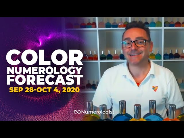 Your Weekly Color Numerology Forecast🎨🔢| September 28-October 4, 2020