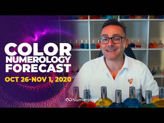 Your Weekly Color Numerology Forecast🎨🔢  October 26 – November 1, 2020 (Hidden Gifts)