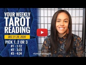 Your Weekly Tarot Reading December 21-28, 2020 | Pick A Card –  #1, #2 OR #3
