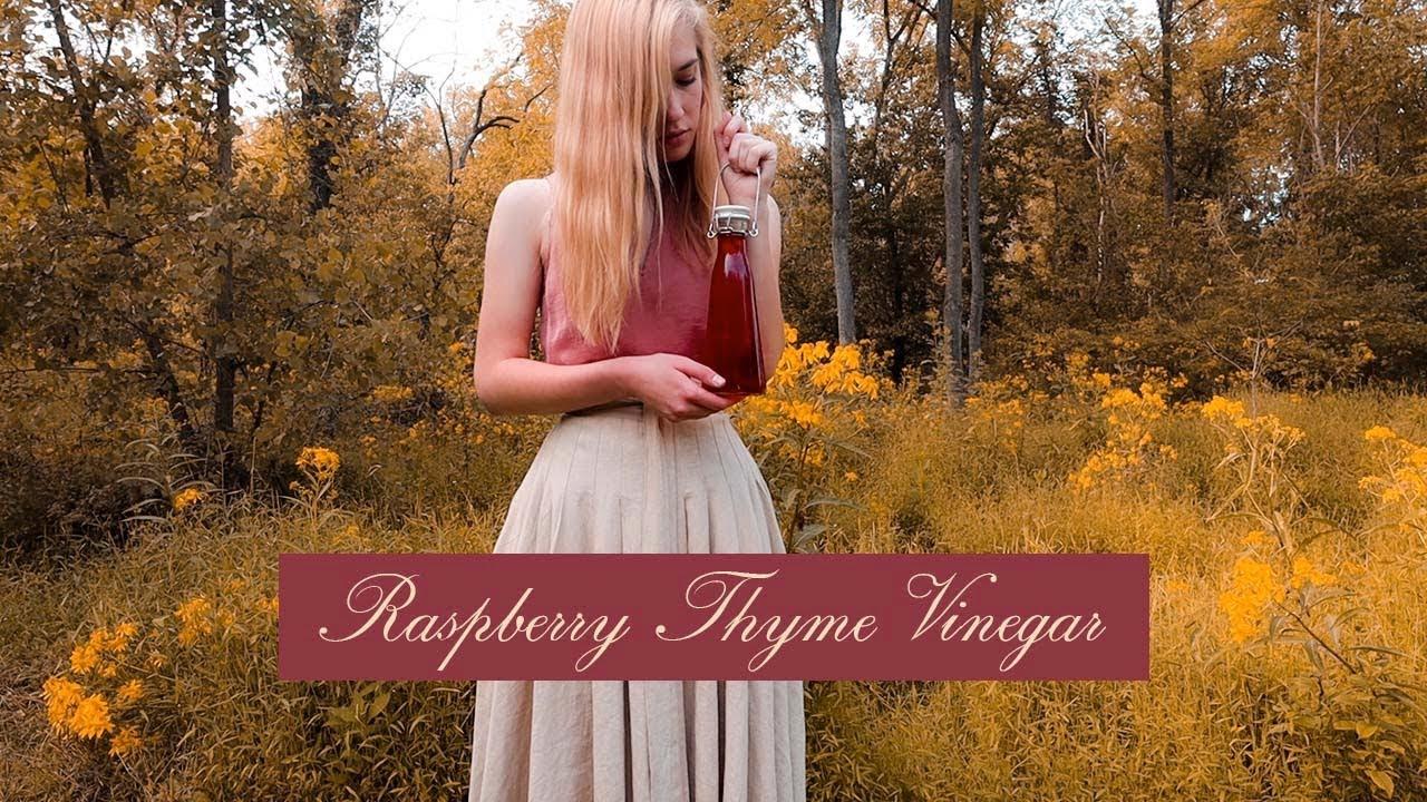 Witch's Brews || Raspberry Thyme Vinegar